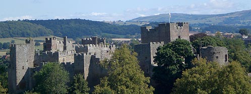 Ludlow Castle viewed from Whitcliffe