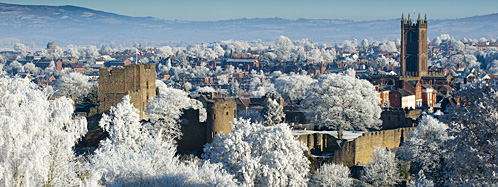 Ludlow in winter viewed from Whitcliffe ©  Shropshire & Telford TSB