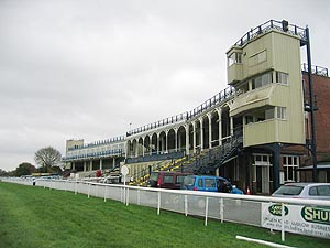 The Grandstand at Ludlow Racecourse